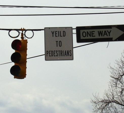 Yeild to Pedestrians