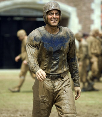 "[George Clooney all muddy in ""Leatherheads""]"